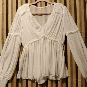 NWT free people blouse Sz L